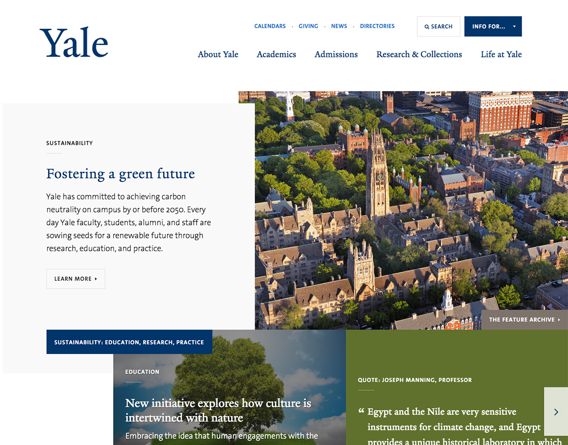 Éducation - Yale University