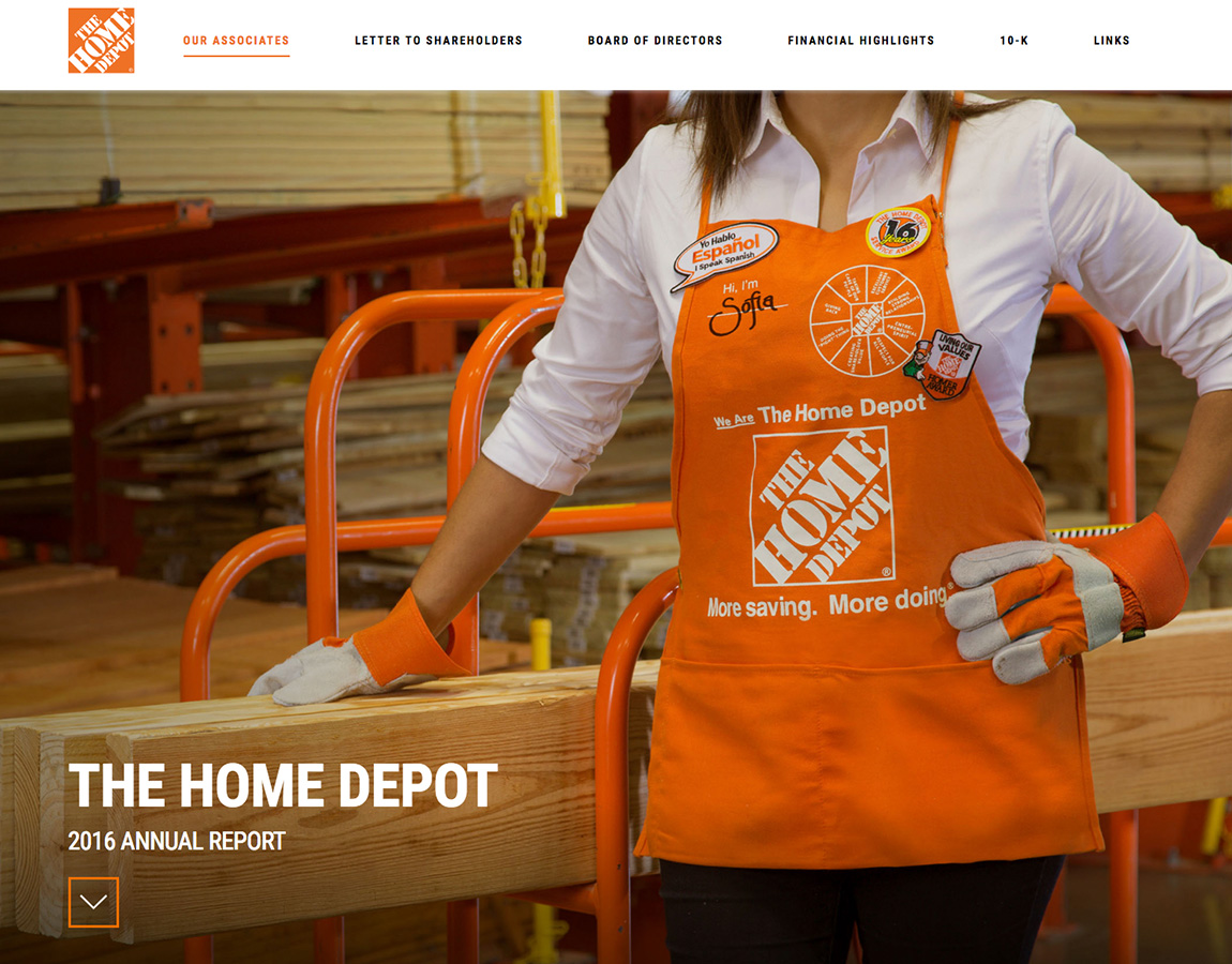 Rapport annuel Home Depot